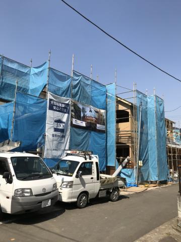 東京都豊島区H様邸 施工中の様子